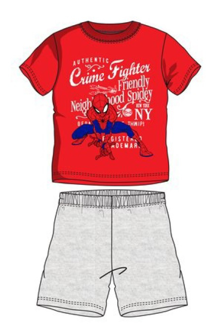 Pijama scurta Spiderman rosu 128 cm , 8 ani 0
