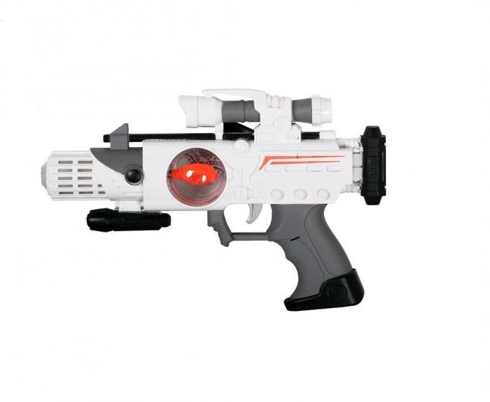 Pistol spatial cu sunet si lumini Mega Creative 28x22x5 cm 0