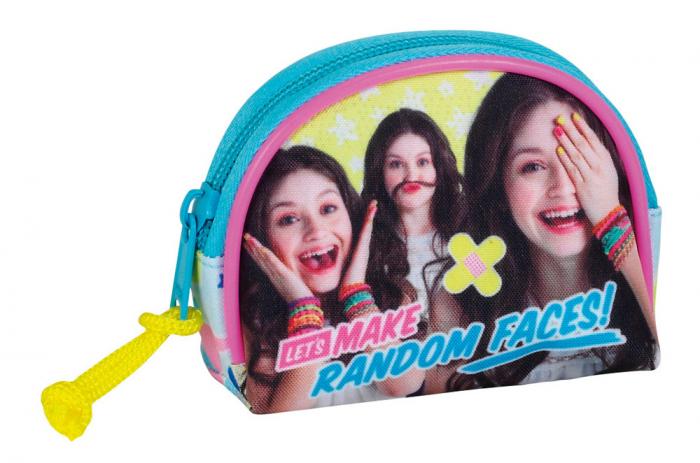 """Portofel pentru monede Soy Luna """"random faces"""" 7x9.5x3 cm [0]"""