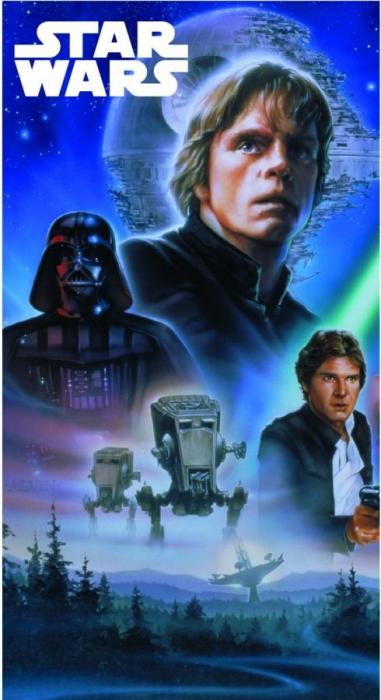 Prosop maini Star Wars albastru 35x65 cm [0]