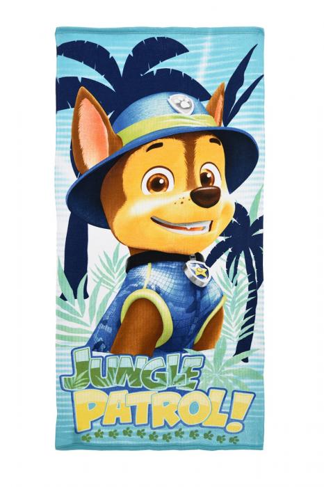 Prosop Paw Patrol Jungle Patrol 70 X 140 CM poliester 0