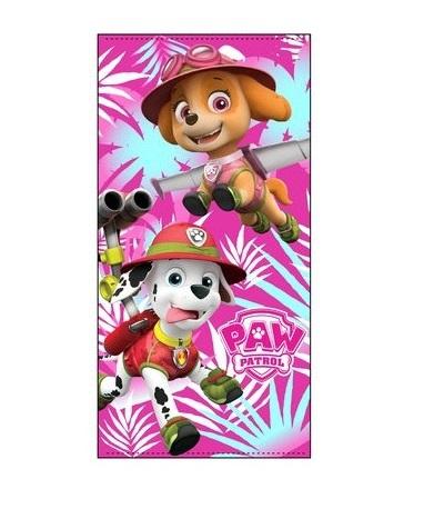Prosop Paw Patrol Jungle roz 70 X 140 CM poliester 0
