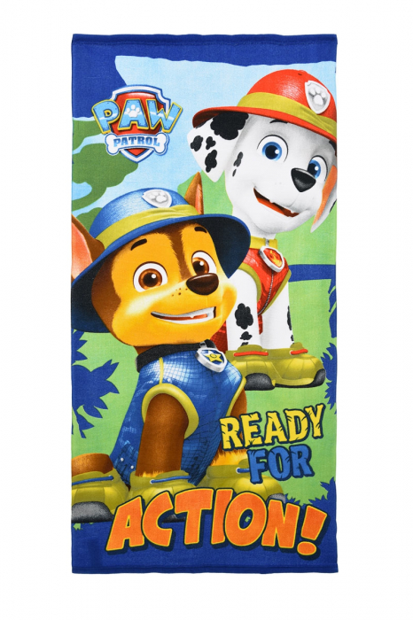 Prosop Paw Patrol Ready for Action 70 X 140 CM poliester 0