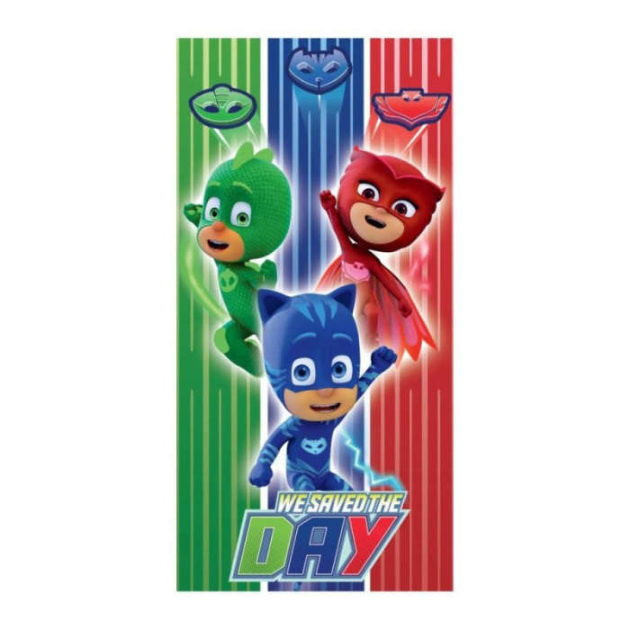 "Prosop PJ Masks microfibra ""Save the day"" 140x70 cm 0"