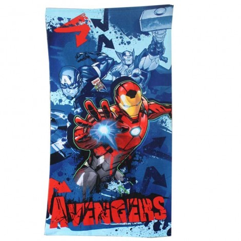 Prosop plaja Avengers Iron Man microfibra 140x70 cm 0