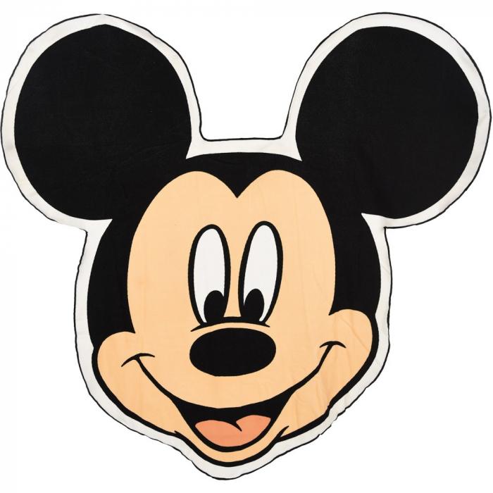 Prosop plaja forma Mickey Mouse 136x140 cm [0]