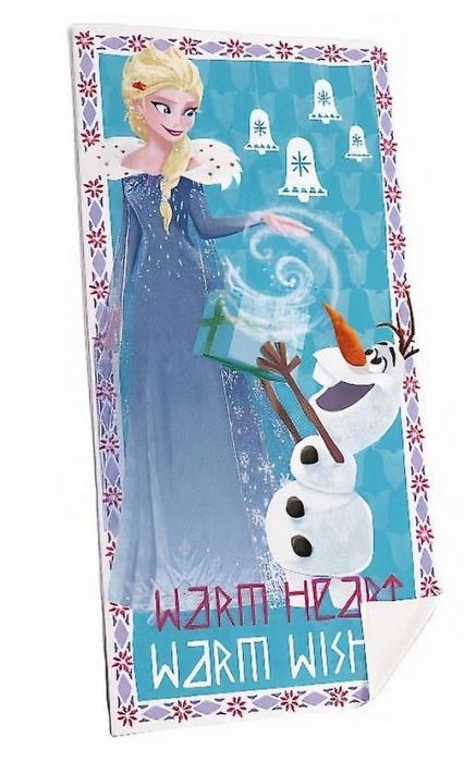Prosop plaja Frozen Elsa si Olaf 70 X 140 cm 0