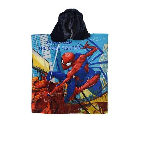 Prosop poncho cu gluga albastra Spiderman 50 X 100 CM poliester [0]