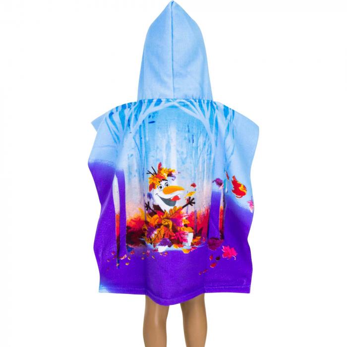 Prosop poncho cu gluga Frozen 55 X 110 CM 1