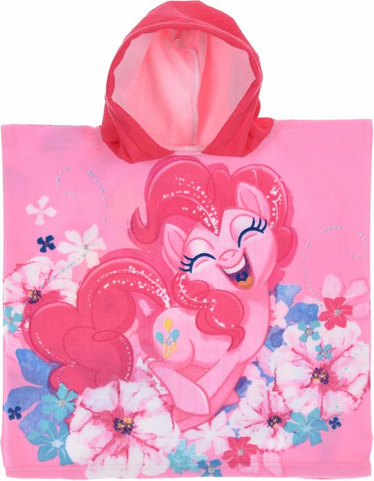 Prosop poncho cu gluga My Little Pony 50 X 100 CM ,roz 1