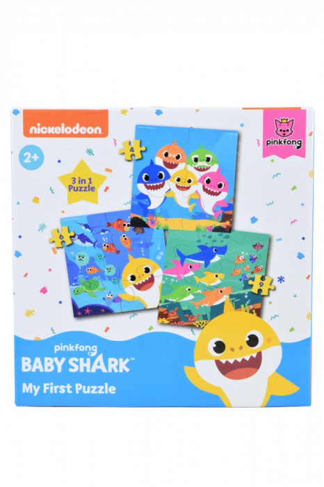 Primul meu puzzle Baby Shark, 3 in 1 [0]