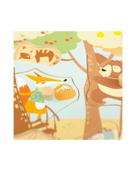 Puzzle din lemn incastru Padure, 8 piese [2]