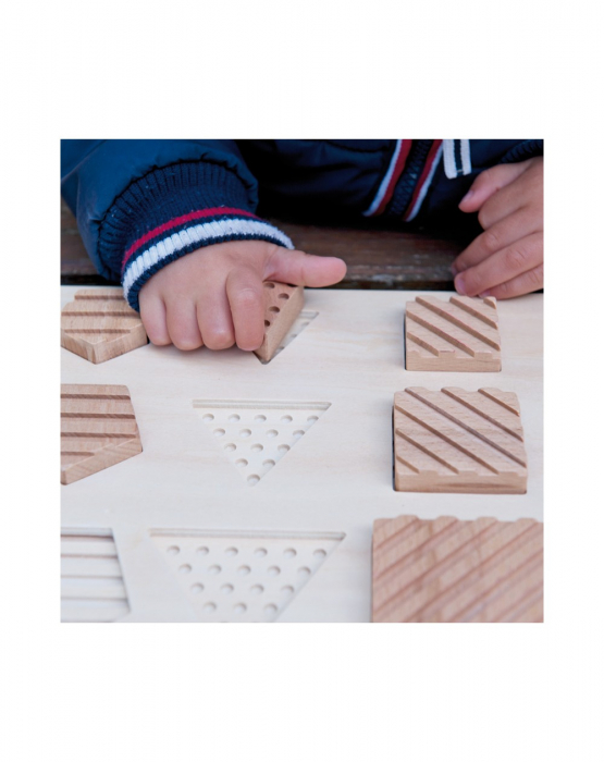 Puzzle senzorial forme geometrice, 12 piese [2]