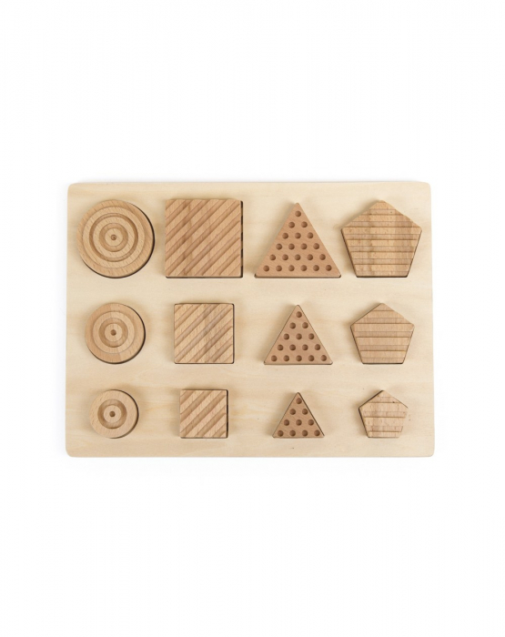 Puzzle senzorial forme geometrice, 12 piese [3]