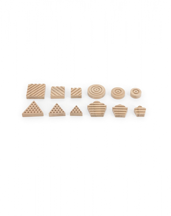 Puzzle senzorial forme geometrice, 12 piese [4]