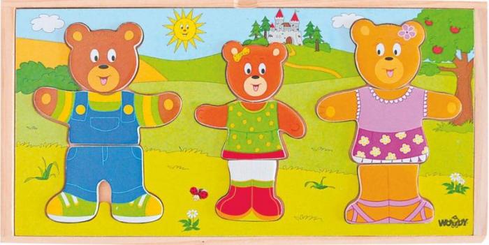 Puzzle incastru Imbraca Familia Ursuletilor 0