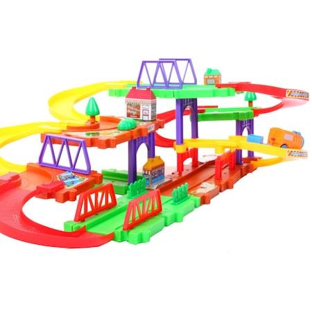 Set de constructie, circuit cu tren 30 piese [1]