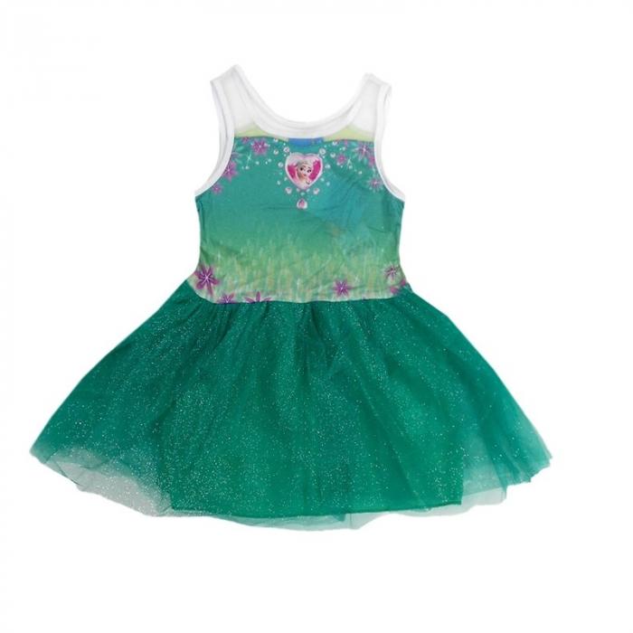Rochie Frozen verde 5 ani 110 cm 0