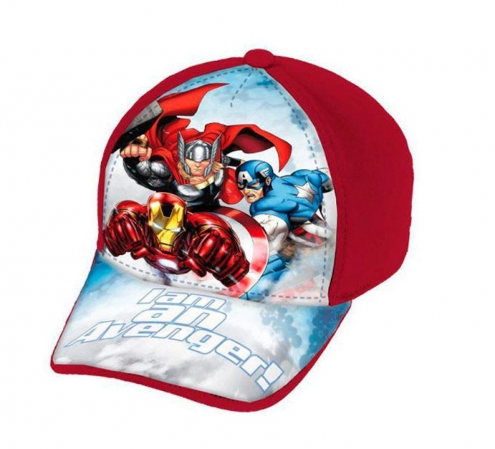 Sapca Avengers rosu 52 cm 0