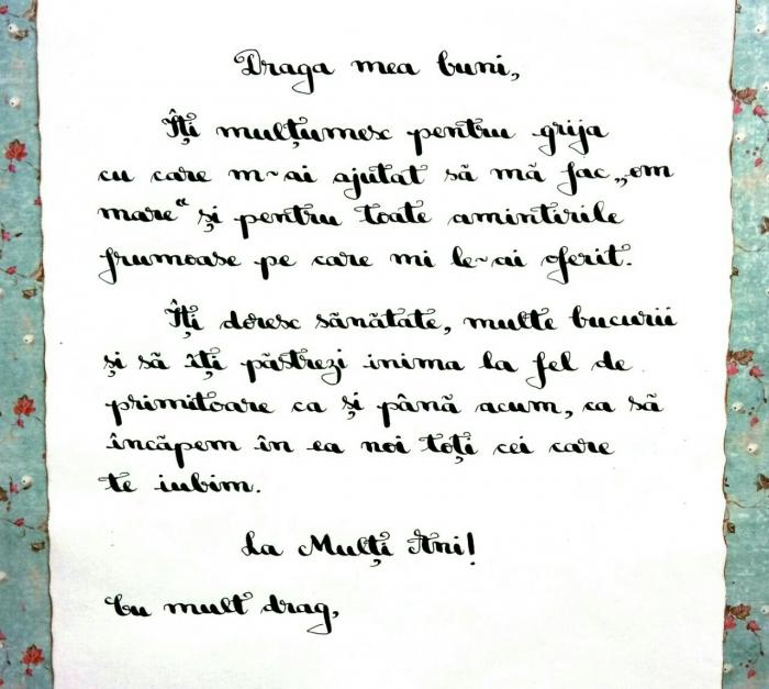 Scrisoare cadou pentru buni - papirus in sticla (model 5) [3]