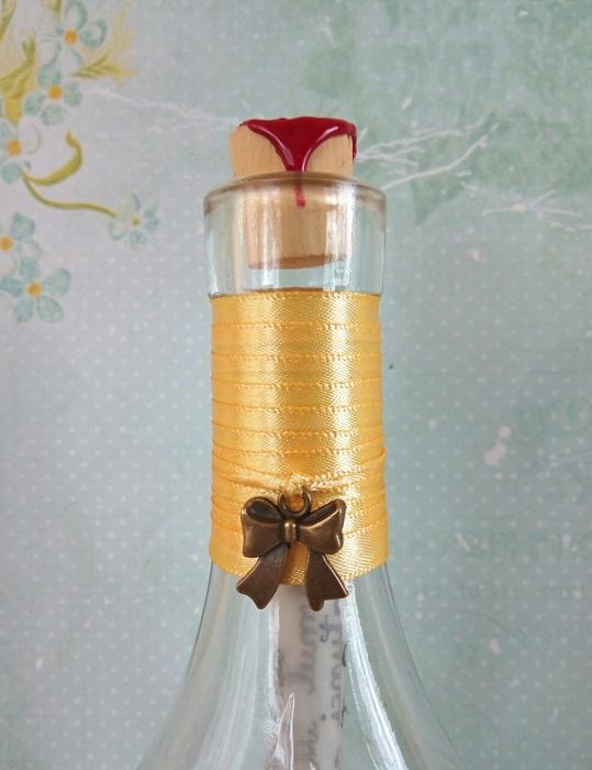 Scrisoare cadou pentru doamna educatoare - papirus in sticla (model 1) [3]