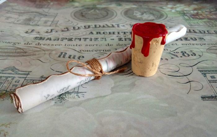 Scrisoare cadou pentru doamna educatoare - papirus in sticla (model 1) [4]