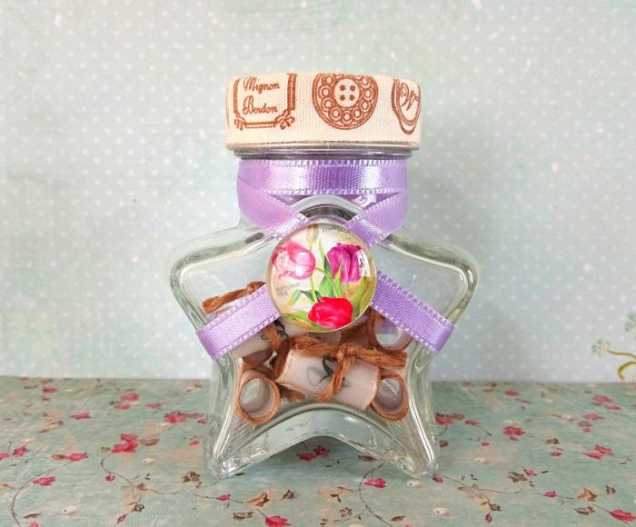 Scrisoare cadou pentru sora - puzzle in mini-borcan (model 2) [2]