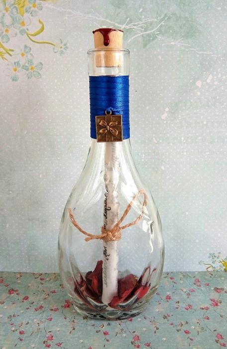 Scrisoare cadou pentru sotie  - papirus in sticla (model 6) [2]