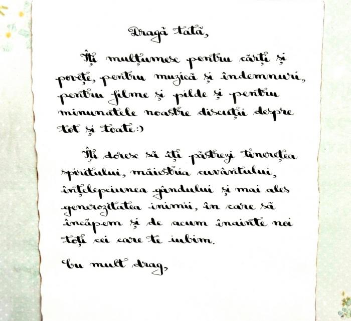 Scrisoare cadou pentru tata - papirus in sticla (model 5) [1]