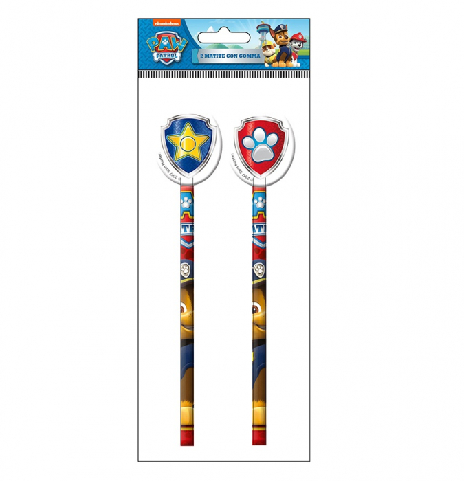 Set 2 creioane cu guma sters Paw Patrol [0]