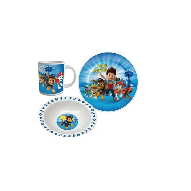 Set mic dejun 3 piese ceramica Paw Patrol boy [2]