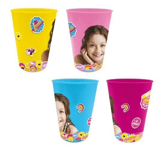 Set 4 pahare plastic color Soy Luna 280 ml [0]