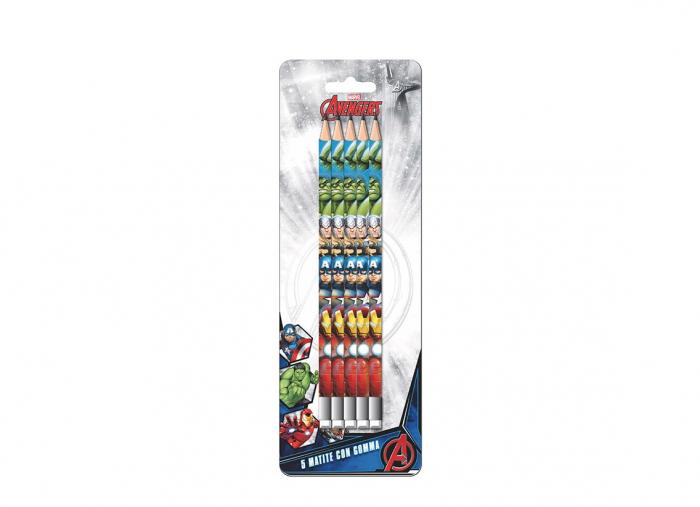 Set 5 creioane HB cu guma de sters Avengers [0]