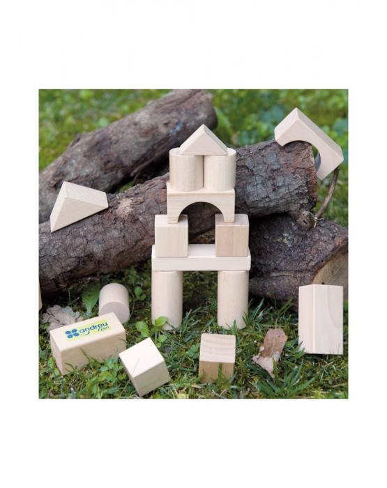 Set pentru construit, 50 piese lemn natur [4]