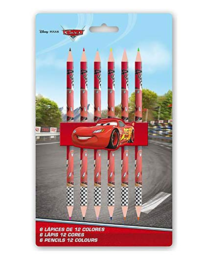 Set 6 creioane - 12 culori Cars 0