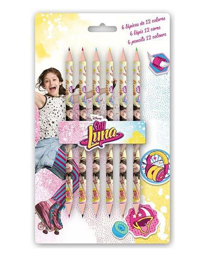 Set 6 creioane Soy Luna, colorate varf dublu [0]