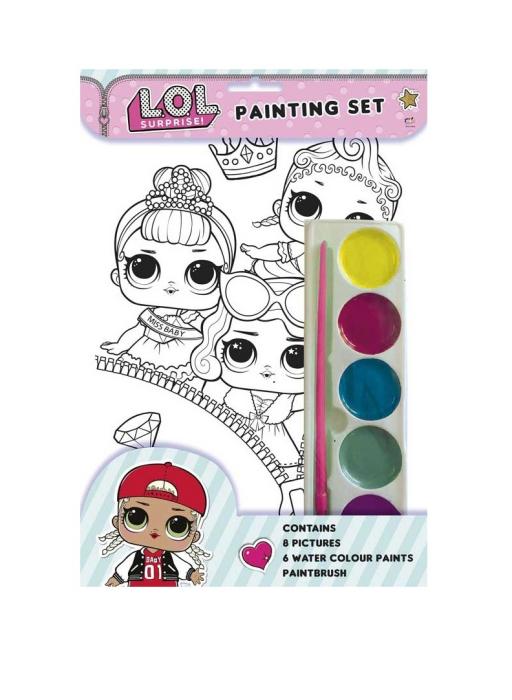 Set 8 planse de colorat LOL Surprise 0