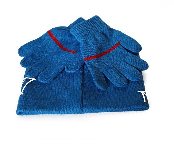 Set caciula+manusi Spiderman, albastru 52 cm [1]