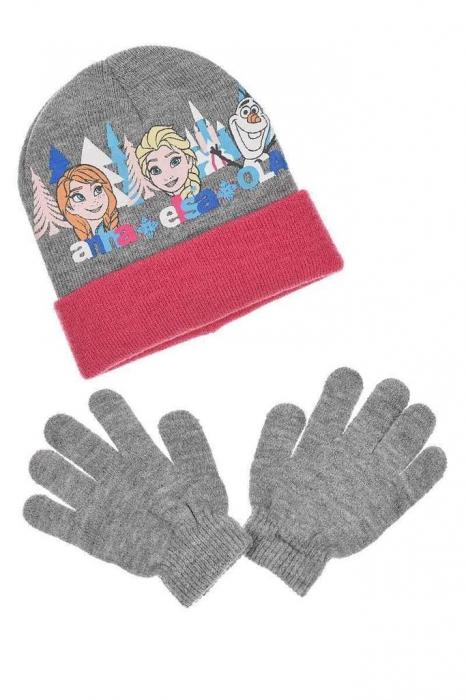 Set Caciula si manusi Frozen Anna si Elsa [0]