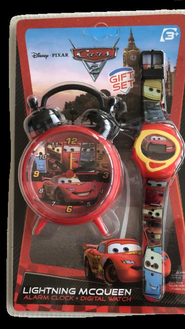 Set ceas birou Cars desteptator 10 cm + ceas de mana [0]