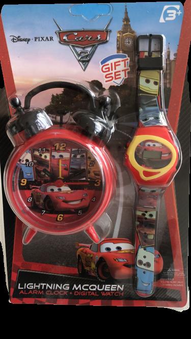 Set ceas birou Cars desteptator 10 cm + ceas de mana [3]