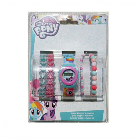 Set Ceas digital My Little Pony + bratari colorate 1
