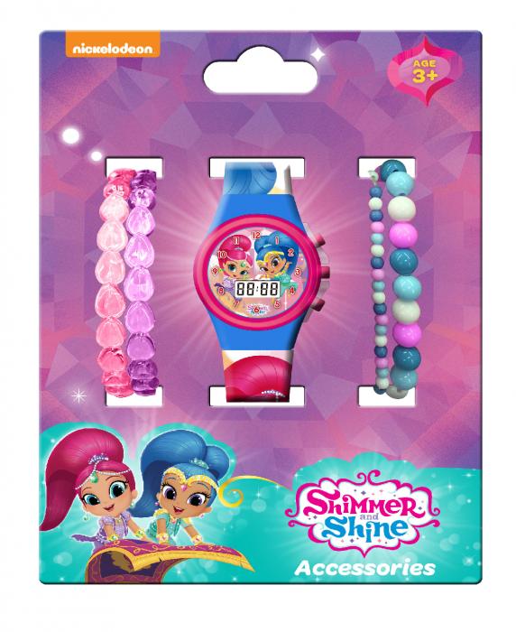 Set Ceas digital Shimmer Shine + bratari colorate 0