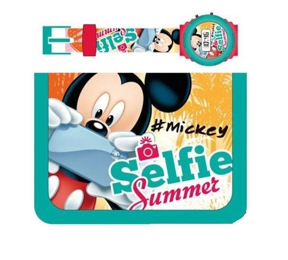 Set ceas si portofel Mickey selfie, multicolor 0