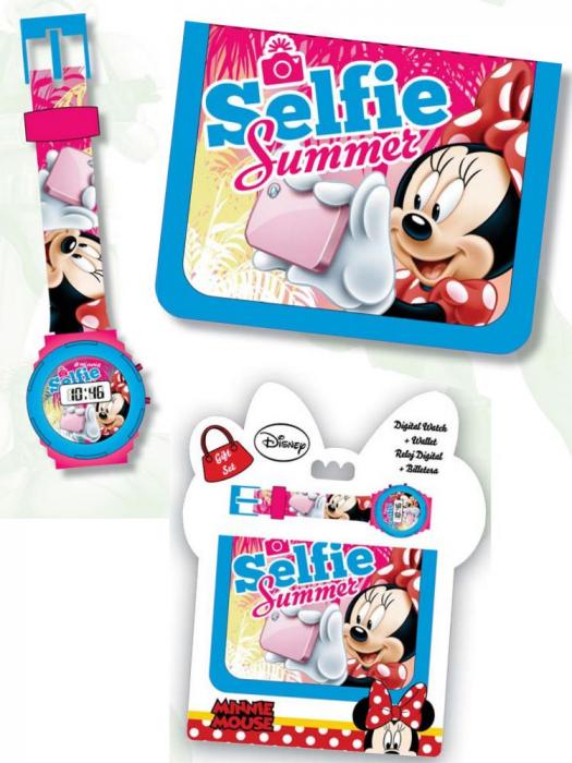 Set ceas si portofel Minnie, multicolor 0