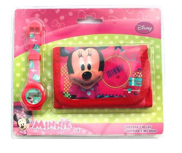 Set ceas si portofel Minnie roz [0]