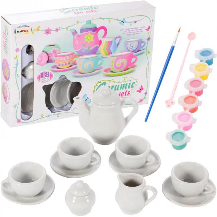 Set ceramica de ceai, pentru pictat [0]