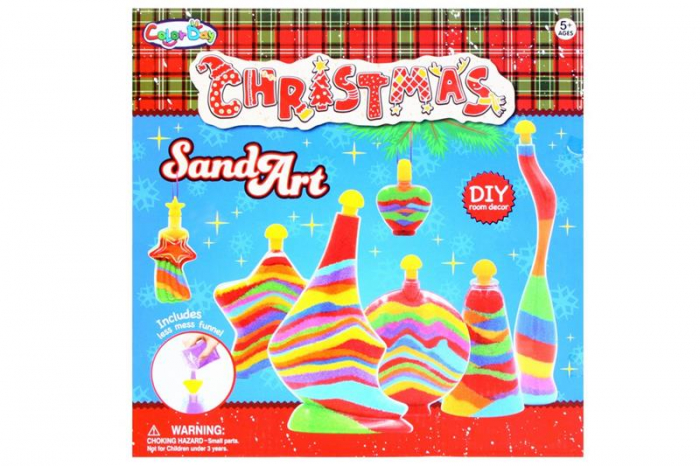 Set Creativ - Christmas Sand Art - nisip colorat 0