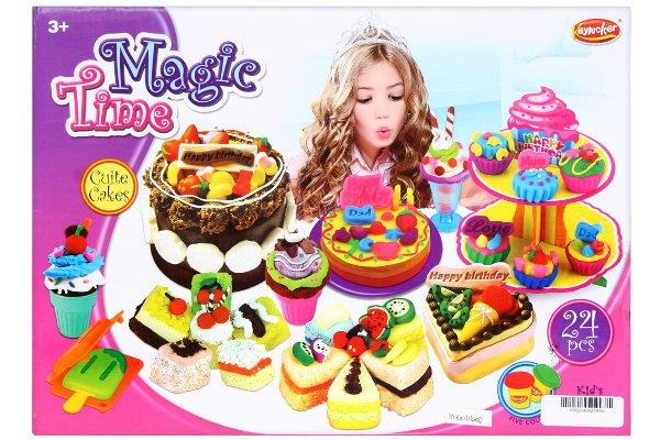Set creativ platilina Magic Time 24 piese 0
