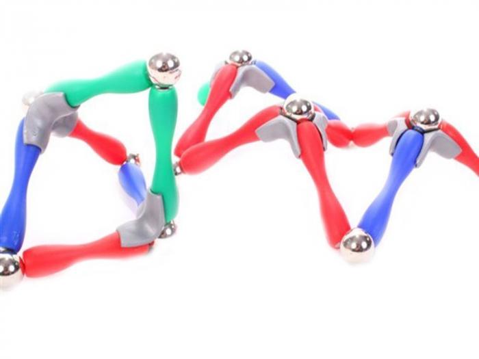 Set de constructie cu piese magnetice, 120 piese [4]